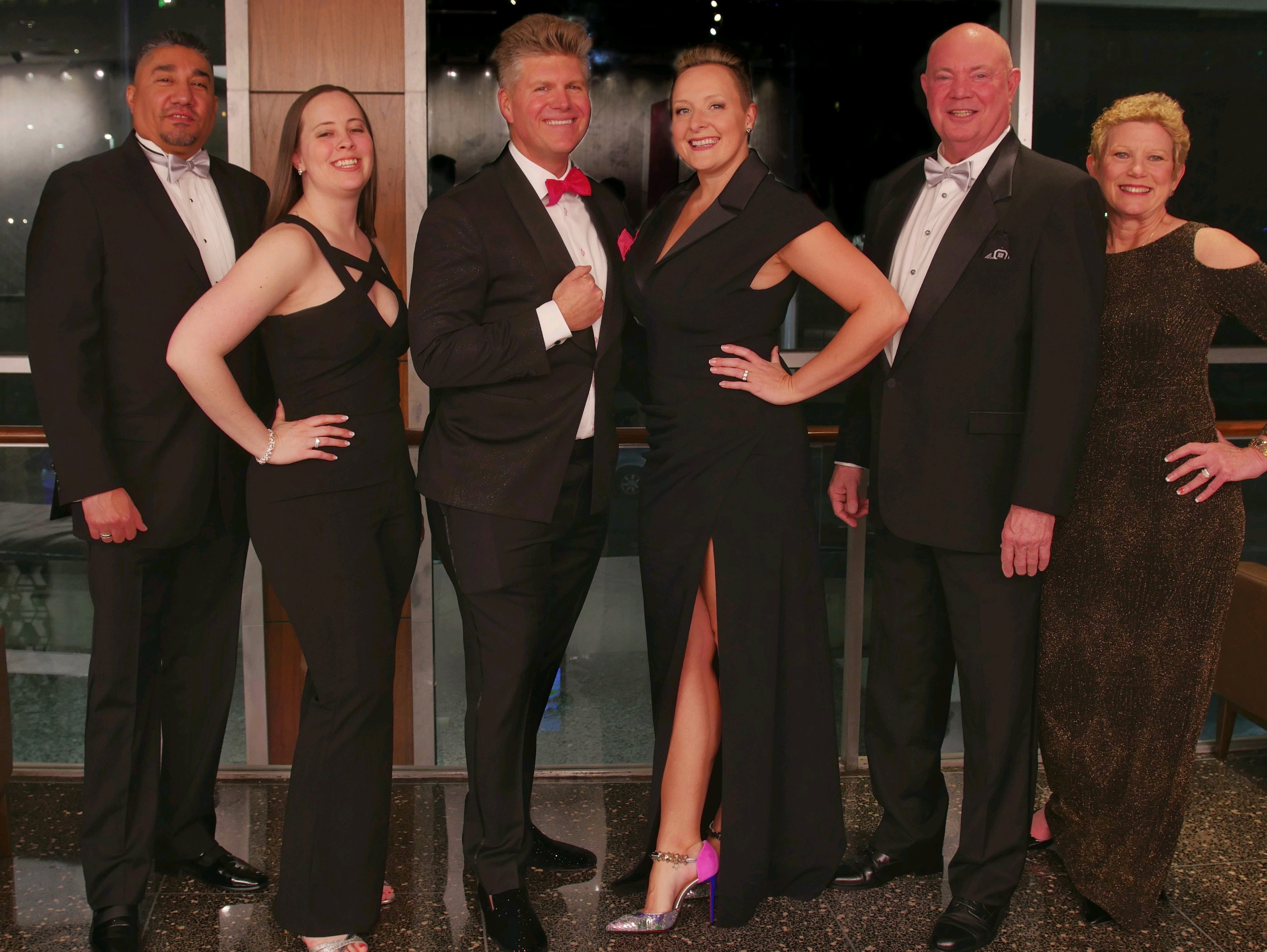 The team of auctioneers for the TCC gala